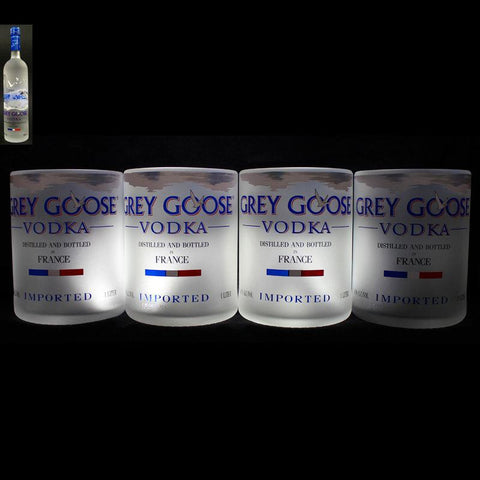 Grey Goose Premium Rocks Glasses (Set of 4) Rocks glass Liquorware Gifts