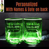 Jameson Whiskey Premium Rocks Glasses (set of 2) Custom Engraved & Personalized Rocks glass Liquorware Gifts