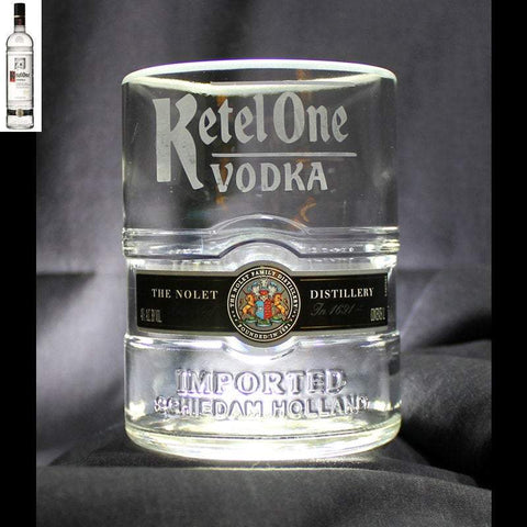Ketel One Vodka Premium Rocks Glass - Custom Engraved & Personalized Rocks glass Liquorware Gifts