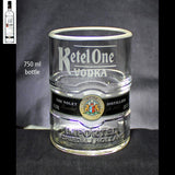 Ketel One Vodka Premium Rocks Glasses (Set of 2) Custom Engraved & Personalized Rocks glass Liquorware Gifts
