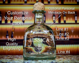 Patron Tequila Custom Look-alike Label Bottle Decanter, Empty Decanter Liquorware Gifts
