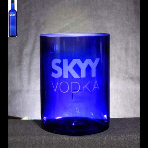 Skyy Vodka Premium Rocks Glass - Custom Engraved & Personalized Rocks glass Liquorware Gifts
