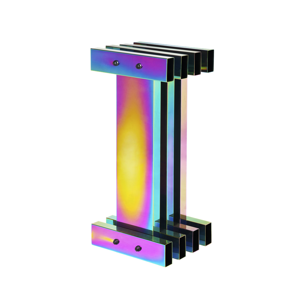 Hot up-right column / Electroplated stainless steel