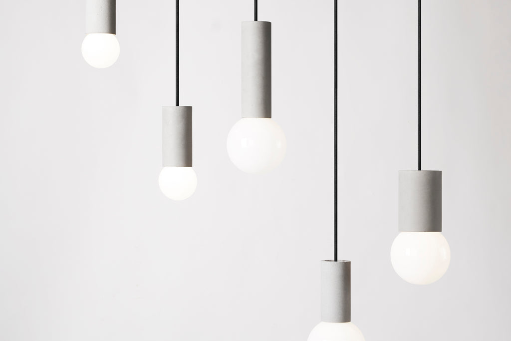 Ball Pendant Light / Concrete