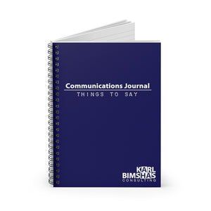 Communications Journal - Spiral Notebook