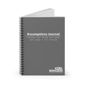 Assumptions Journal - Spiral Notebook