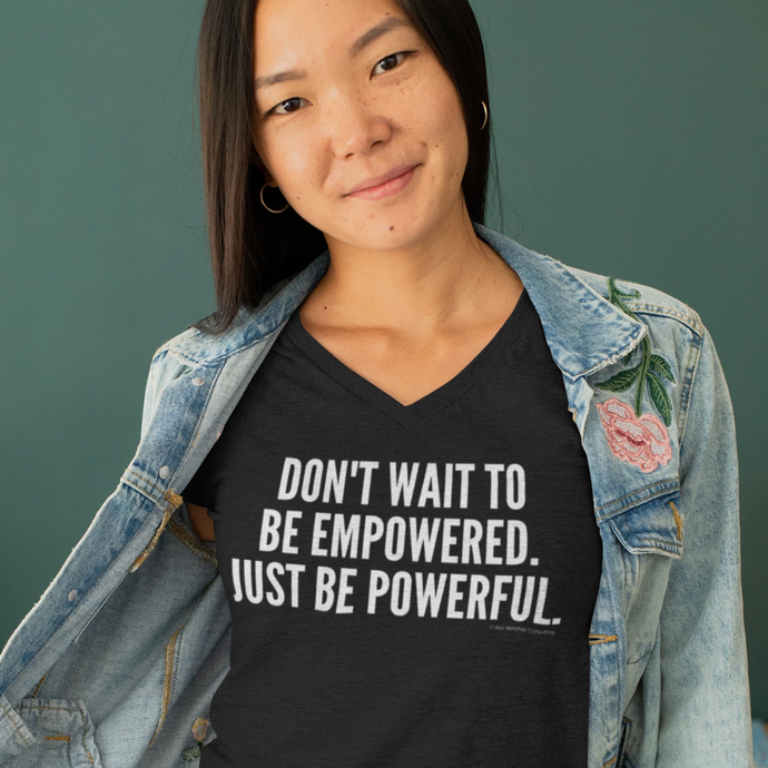 Empowered and Powerful V-Neck