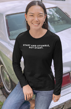 Load image into Gallery viewer, Start and Stumble: Long Sleeve Tee from LeadershirtsPlus.com
