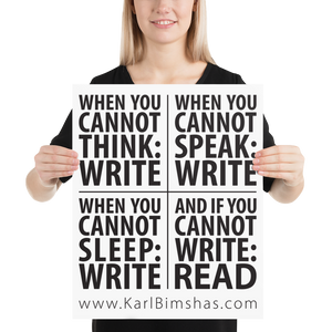 When to Write 16x20 poster