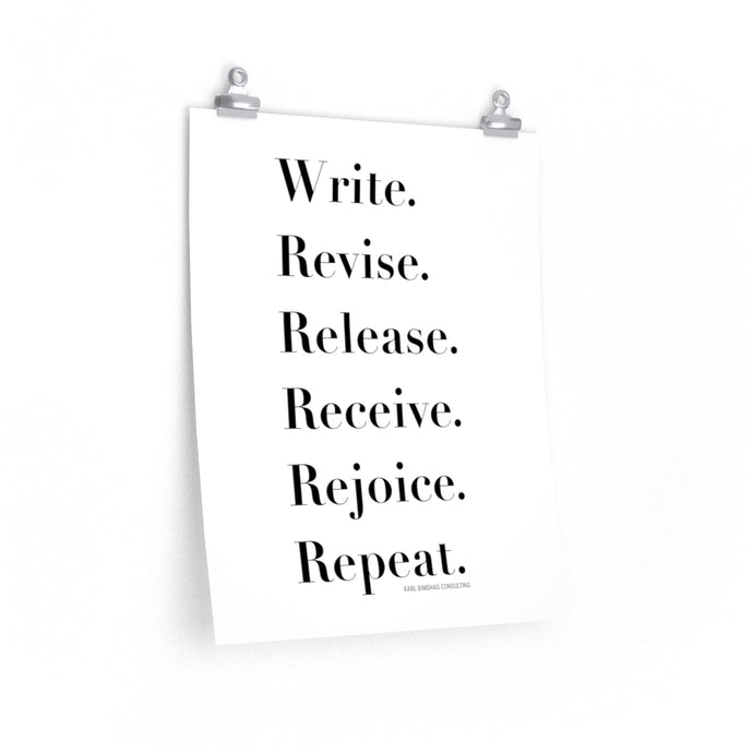Six Words of Advice for Writers - 16x20 poster