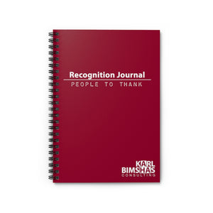 Recognition Journal - Spiral Notebook