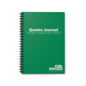 Quotes Journal - Spiral Notebook