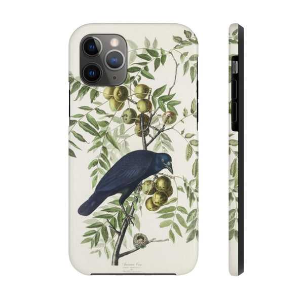 American Crow from Birds of America (1827) by John James Audubon Phone Cases - The UnSpace