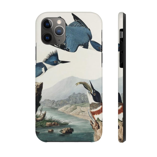 Belted Kingfisher from Birds of America (1827) by John James Audubon Phone Cases - The UnSpace