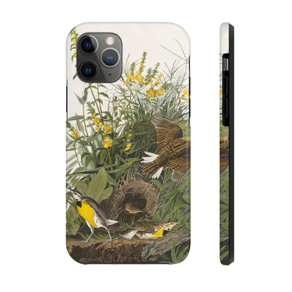 Meadow Lark from Birds of America (1827) by John James Audubon Phone Cases - The UnSpace