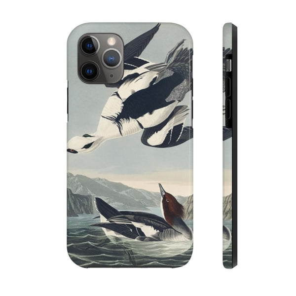 Smew or White Nun from Birds of America (1827) by John James Audubon Phone Cases - The UnSpace