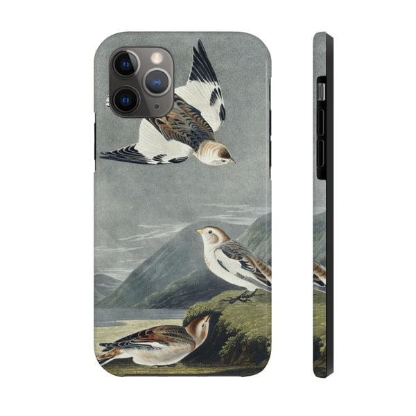 Snow Bunting from Birds of America (1827) by John James Audubon Phone Cases - The UnSpace