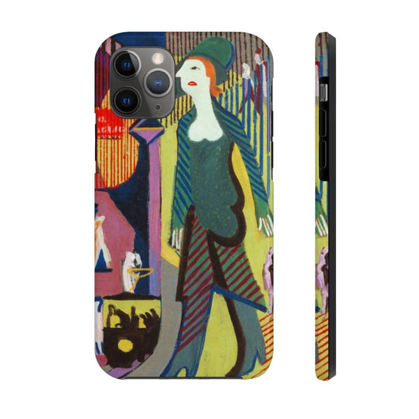 """Woman is Walking over a Nighty Street"" (1928 - 1929) Case Mate Phone Cases - The UnSpace"