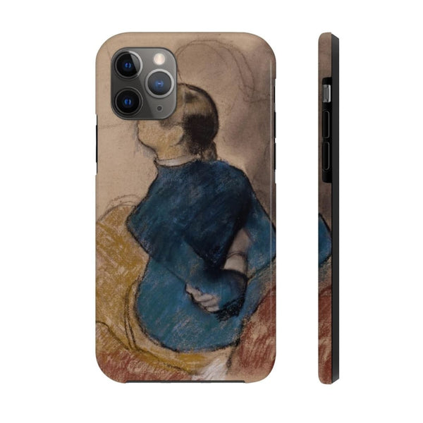 """Young Woman in Blue"" (1884) Case Mate Phone Case - The UnSpace"