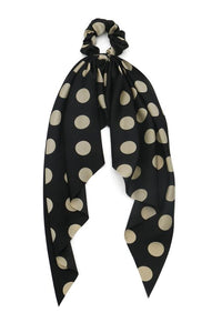 Morgan & Taylor Black Spots Scrunchie Millinery