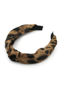 Morgan & Taylor Eve Tan Leopard Headband Millinery