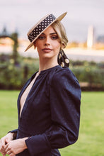 Load image into Gallery viewer, Morgan & Taylor Black Spots Scrunchie Millinery