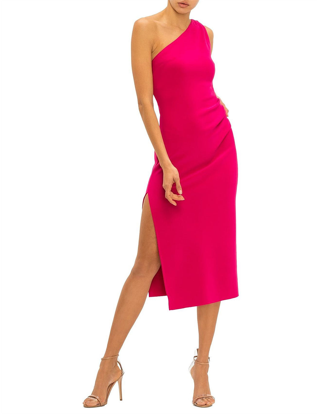 Bec and Bridge Ulla Asym Pink Midi Size 6 | Bec and Bridge