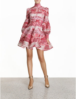 Zimmermann Wavelength Splice Mini Dress Size 1 (8-10) | Zimmermann