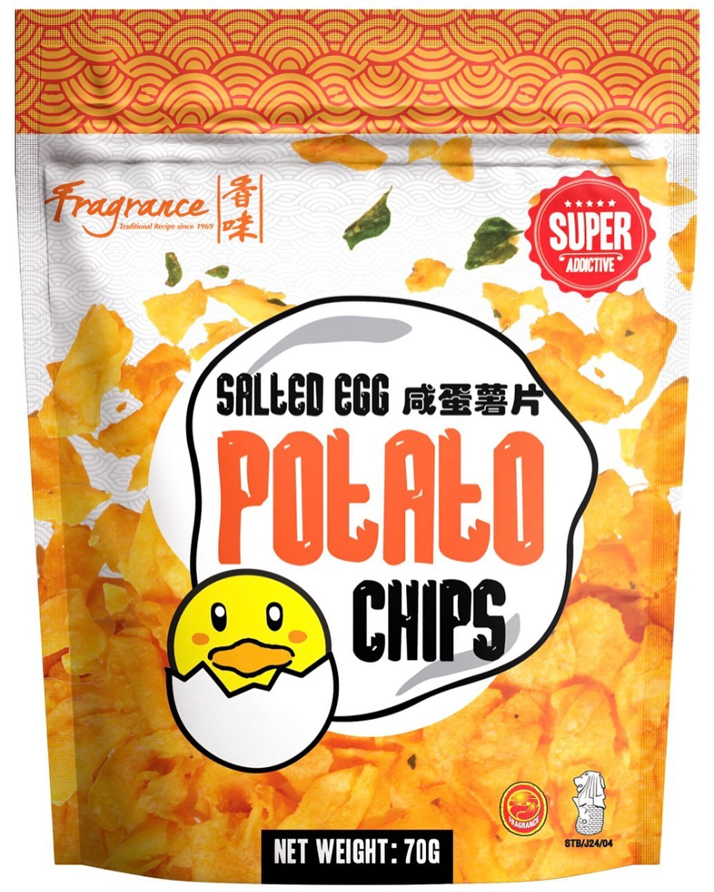 Fragrance Salted Egg Potato Chips