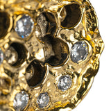 Luxury Golden Cubic Zirconia Drawer and Cabinet Handle Hardware