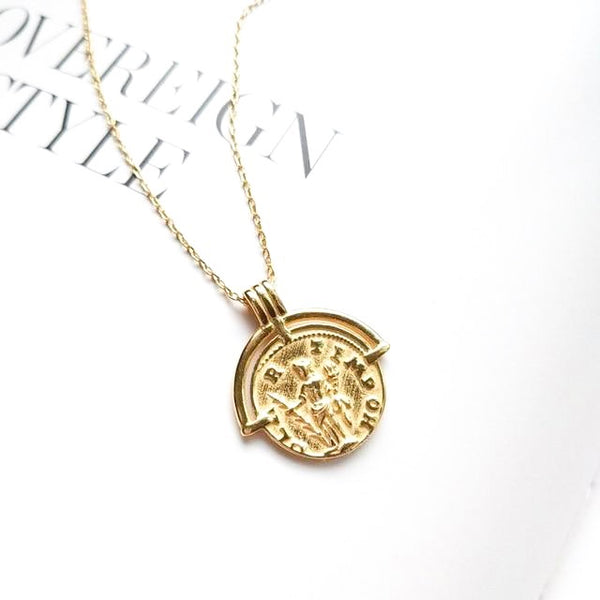 Natalia Coin Pendant Layering Necklace