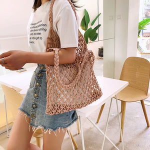 Braided Macrame Shoulder Bag