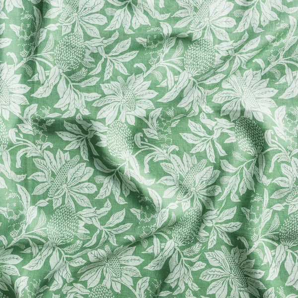 Banksia Green Heavyweight Linen