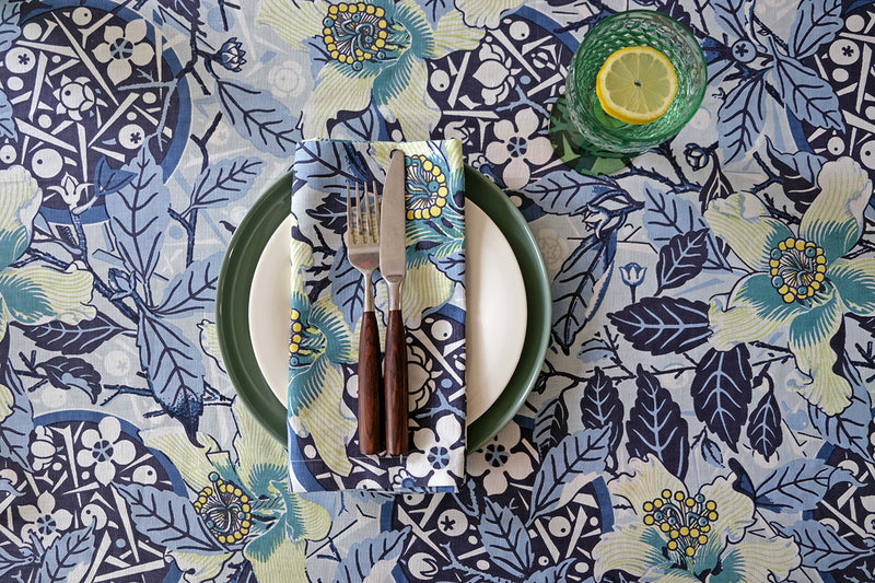 Native Hibiscus Ocean Light Weight Table Cloth