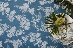 Wattle Blue Denim Linen/Cotton Tablecloth