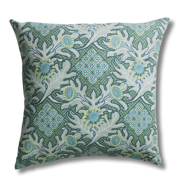 Firewheel Trellis Ocean Cushion Cover – 50 x 50