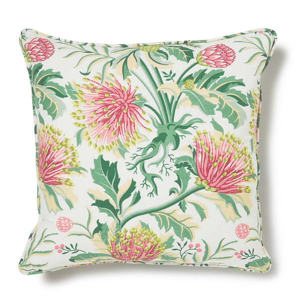 Matchstick Banksia Pink Light Weight 50x50 Cushion Cover