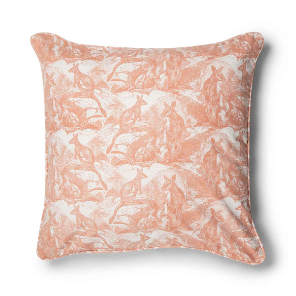 Wallaby Shell Coral 70x70 Cushion Cover