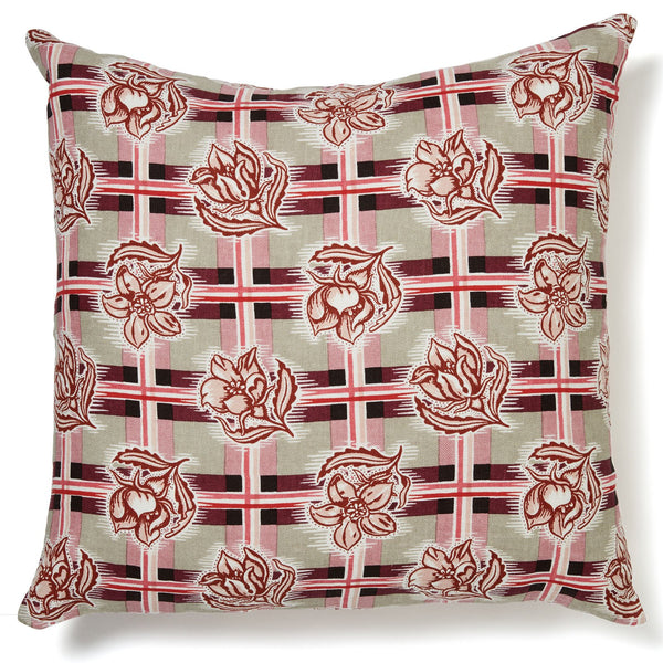Madras Plum Cushion Cover – 60 x 60
