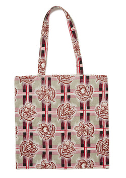 Madras Plum Tote Bag