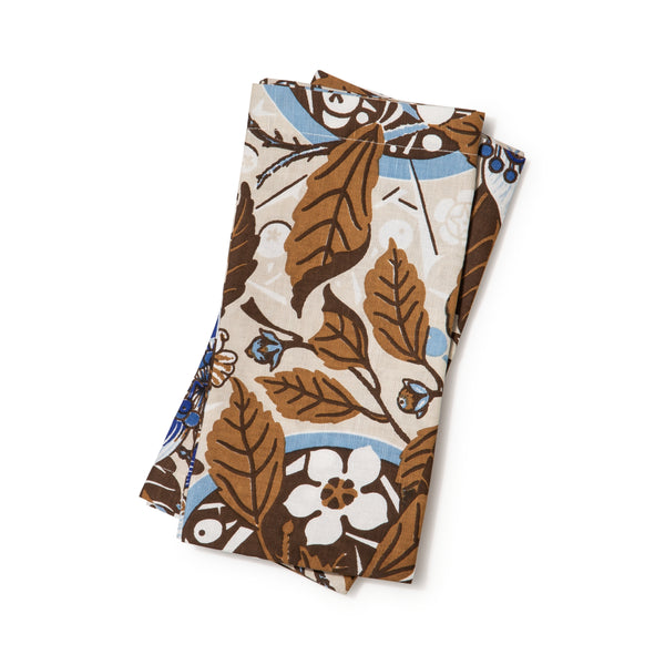 Native Hibiscus Coffee Napkins Set of 2