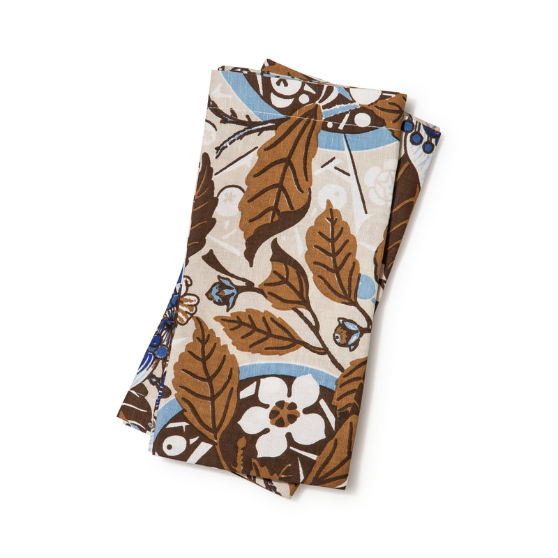 Native Hibiscus Coffee Light Weight Napkins Set of 2