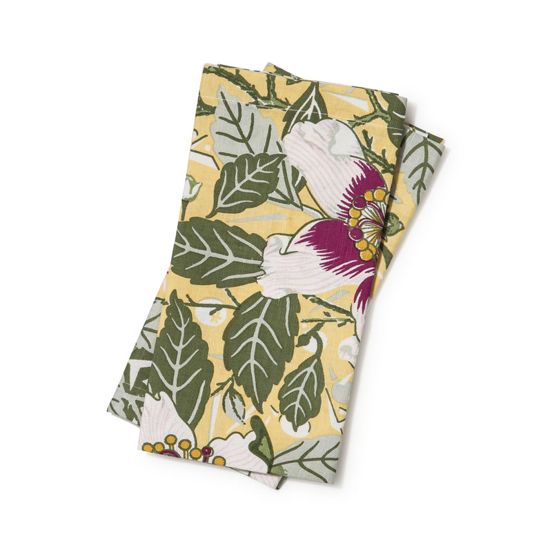 Native Hibiscus Garden Light Weight Napkins Set of 2
