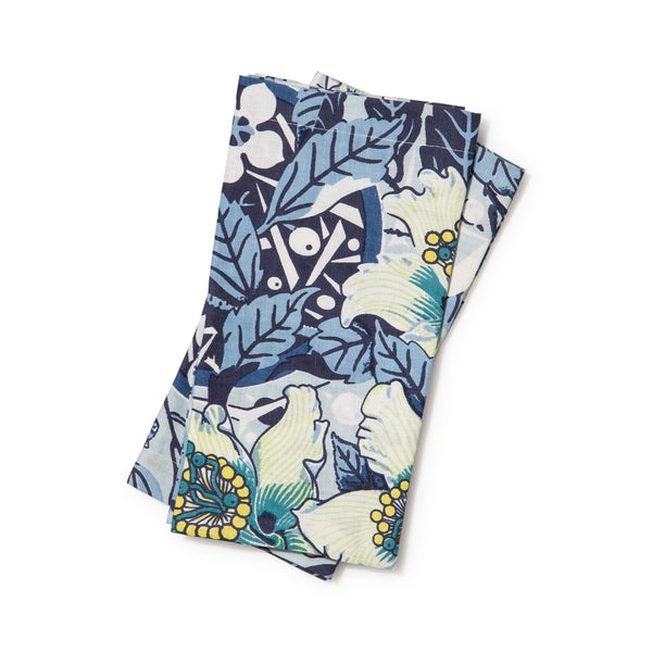 Native Hibiscus Ocean Napkins Set of 2