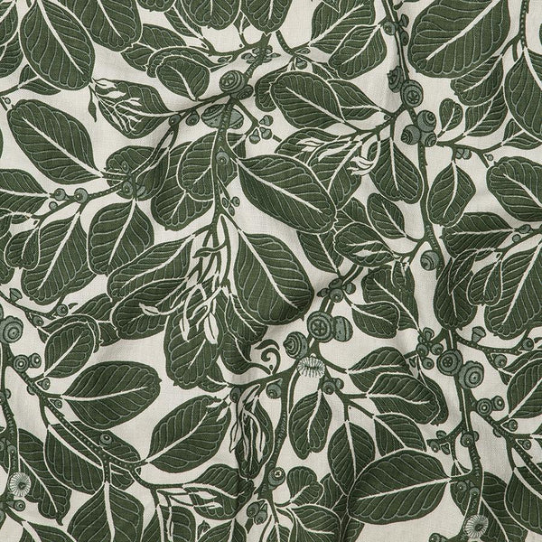 Stringybark Moss Heavyweight Linen