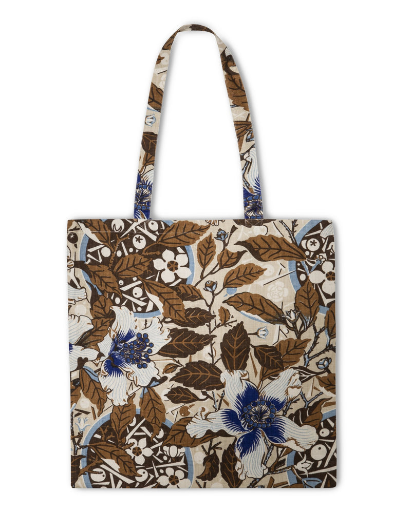 Native Hibiscus Coffee Heavyweight Linen Tote Bag