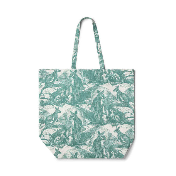 Wallaby Sea Green Tote Bag