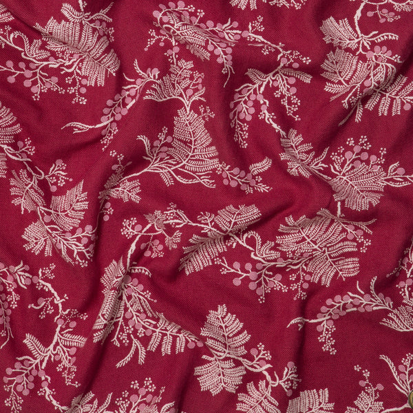 Wattle Pink Raspberry Heavyweight Linen