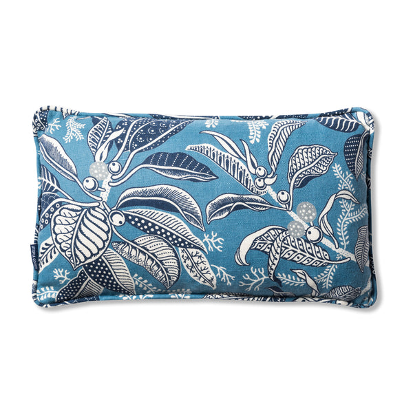 Fig Blue Piped Heavyweight 30 x 50 cushion Cover