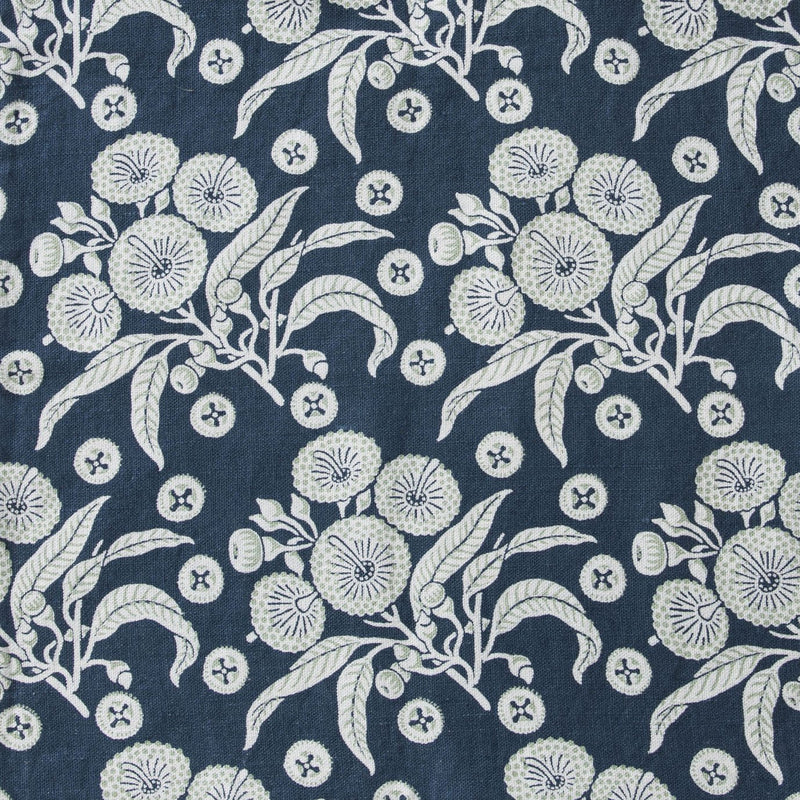 * Native Posy Indigo Furnishing Linen
